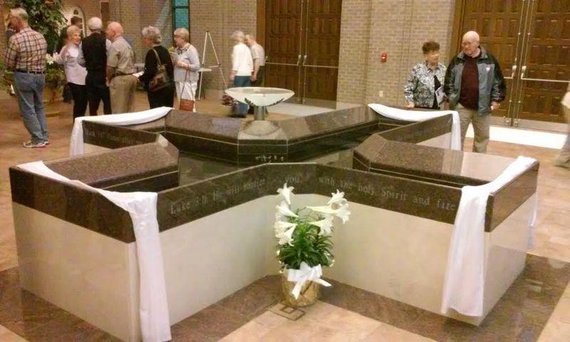 Catholic baptistry